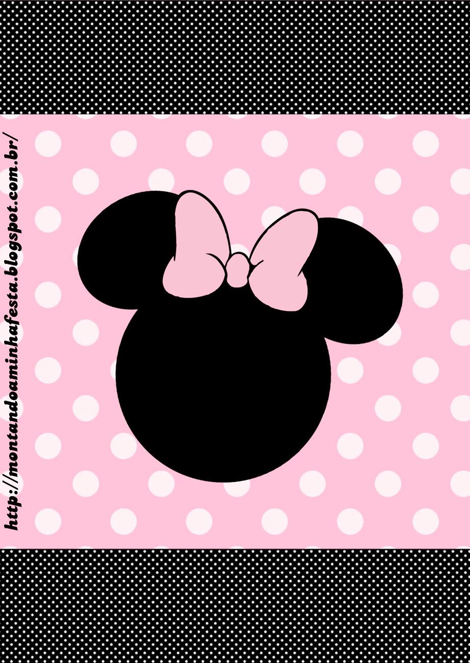 Minnie Rosa: Etiquetas para Candy Bar, para Imprimir Gratis