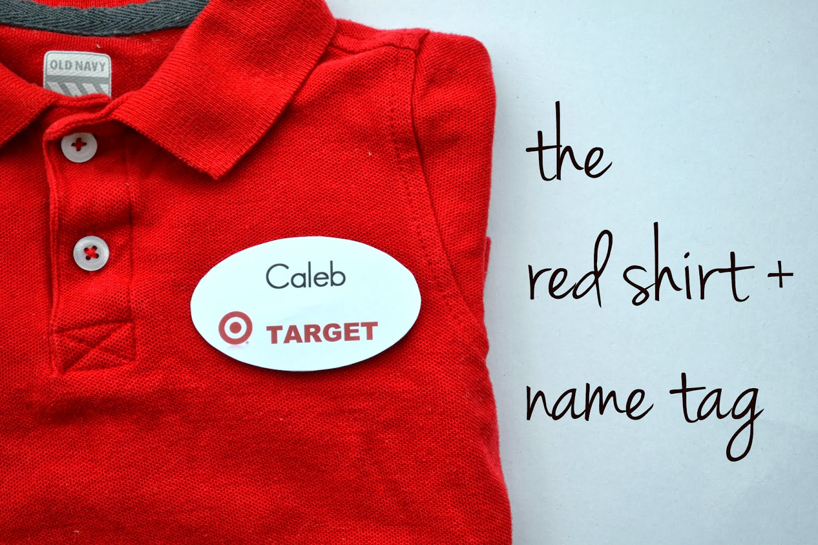 From Our House With Love When Your Love For Target Begins To Affect - Employee name tags template