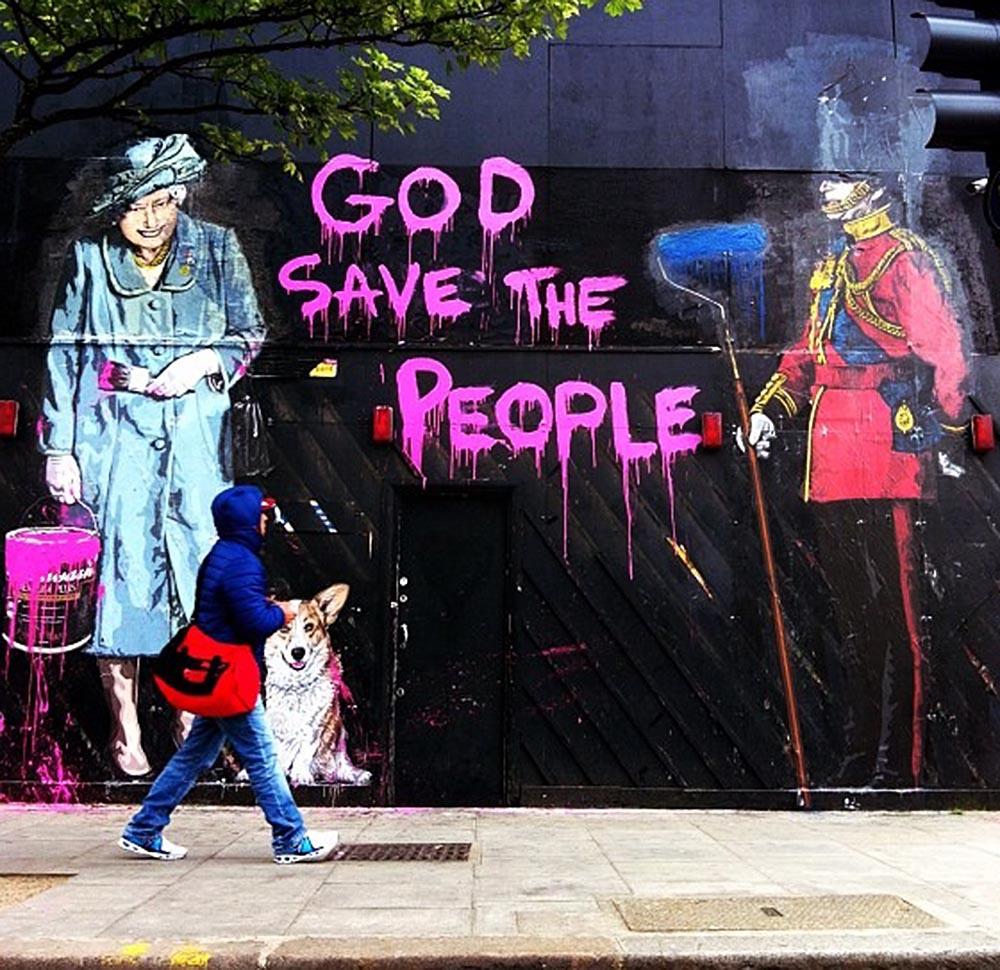 Mr brainwash new murals in london streetartnews for Mural painted by street artist mr brainwash