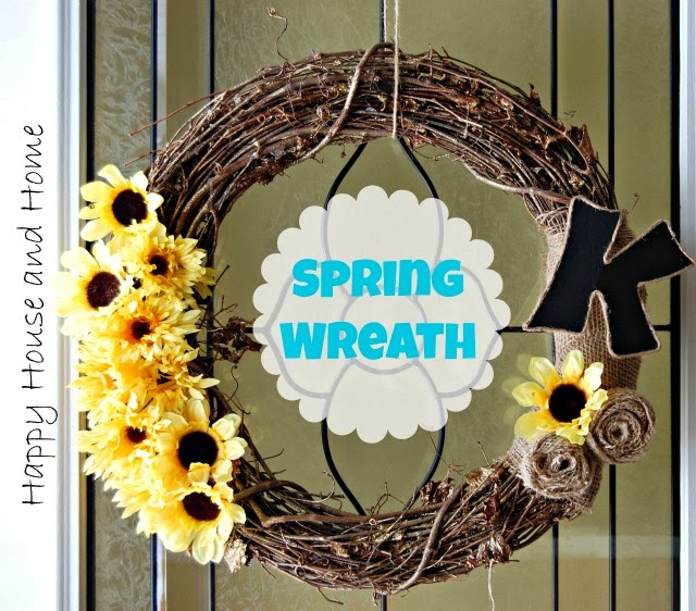 Spring wreath, DIY wreath, Burlap Crafts, Burlap wreath, DIY burlap wreath