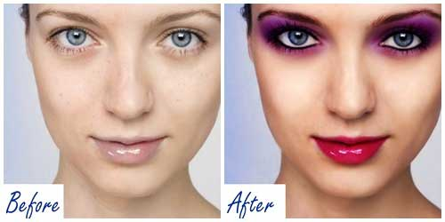 historia maquillaje 2 000 photoshop