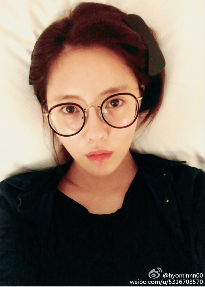 tara hyomin bids goodnight with her no make up selca t