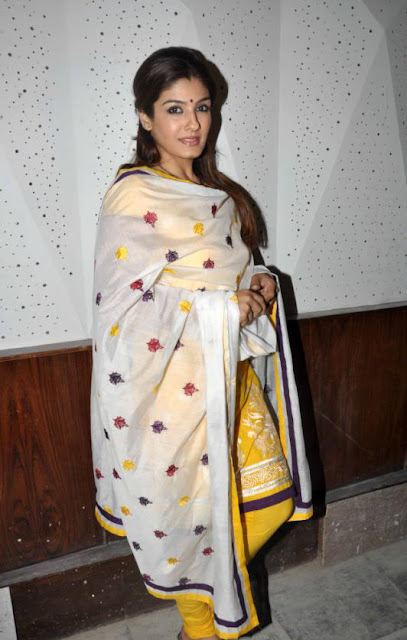 raveena tandon at children