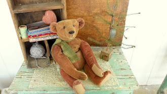 """Old Mr.Pots"" newly hand made, vintage style Mohair Bear"