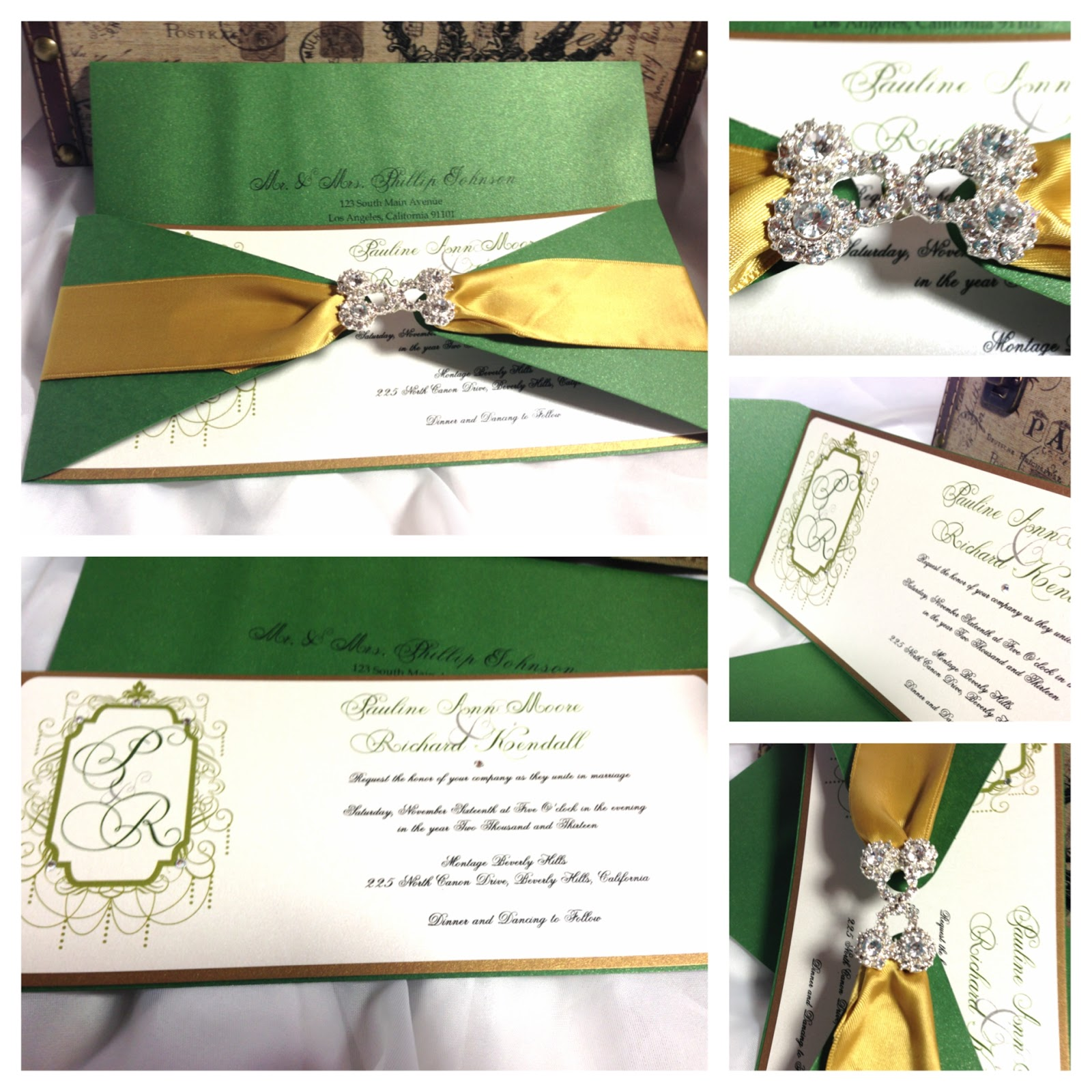 Couture Wedding Invitations for luxury invitations template