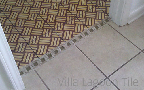 Tropical Basketweave Tile Cement Style