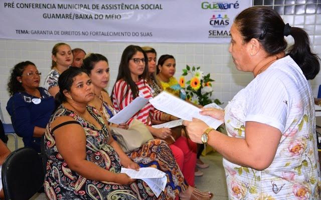 PRÉ-CONFERÊNCIA MUNICIPAL DE ASSISTÊNCIA SOCIAL É REALIZADA EM GUAMARÉ.