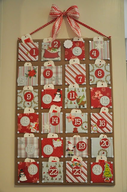 http://honeywerehome.blogspot.com/2011/11/christmas-craft-advent-calendar.html