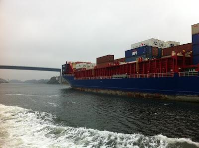 Schiff im Nord-Ostsee-Kanal