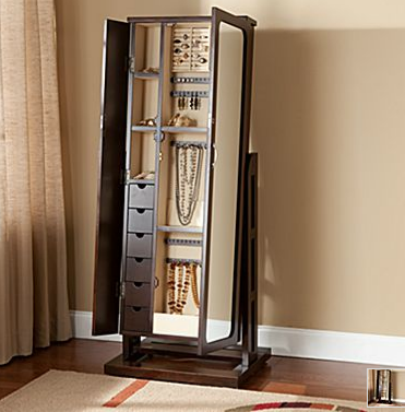 oh me oh my standing mirror jewelry armoire. Black Bedroom Furniture Sets. Home Design Ideas