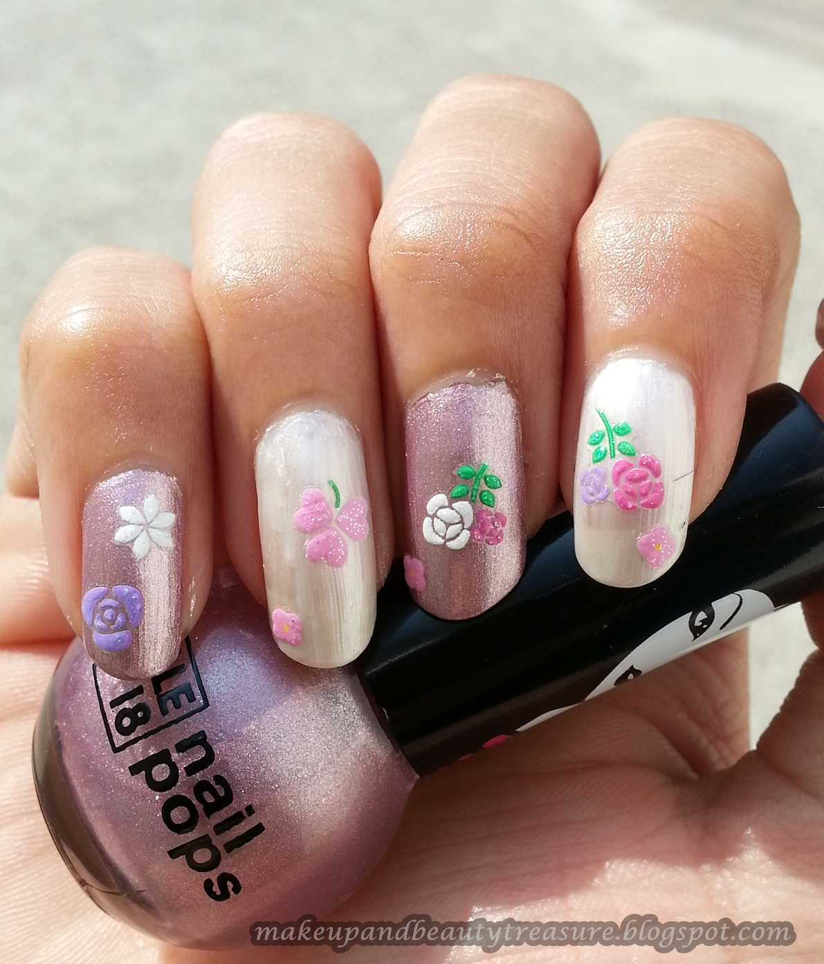 Makeup and Beauty Treasure: Joby 3D Nail Art Stickers \'Flowers #NA03 ...