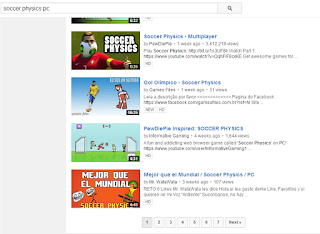 PewDiePie results soccer physics pc search