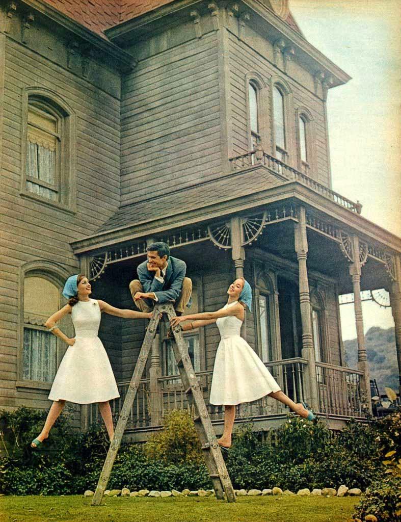 """Anthony Perkins en el rodaje de """"Psicosis"""" (1960)"""