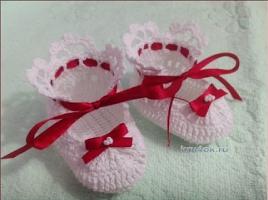 Zapatito de Bebe a Crochet o Ganchillo