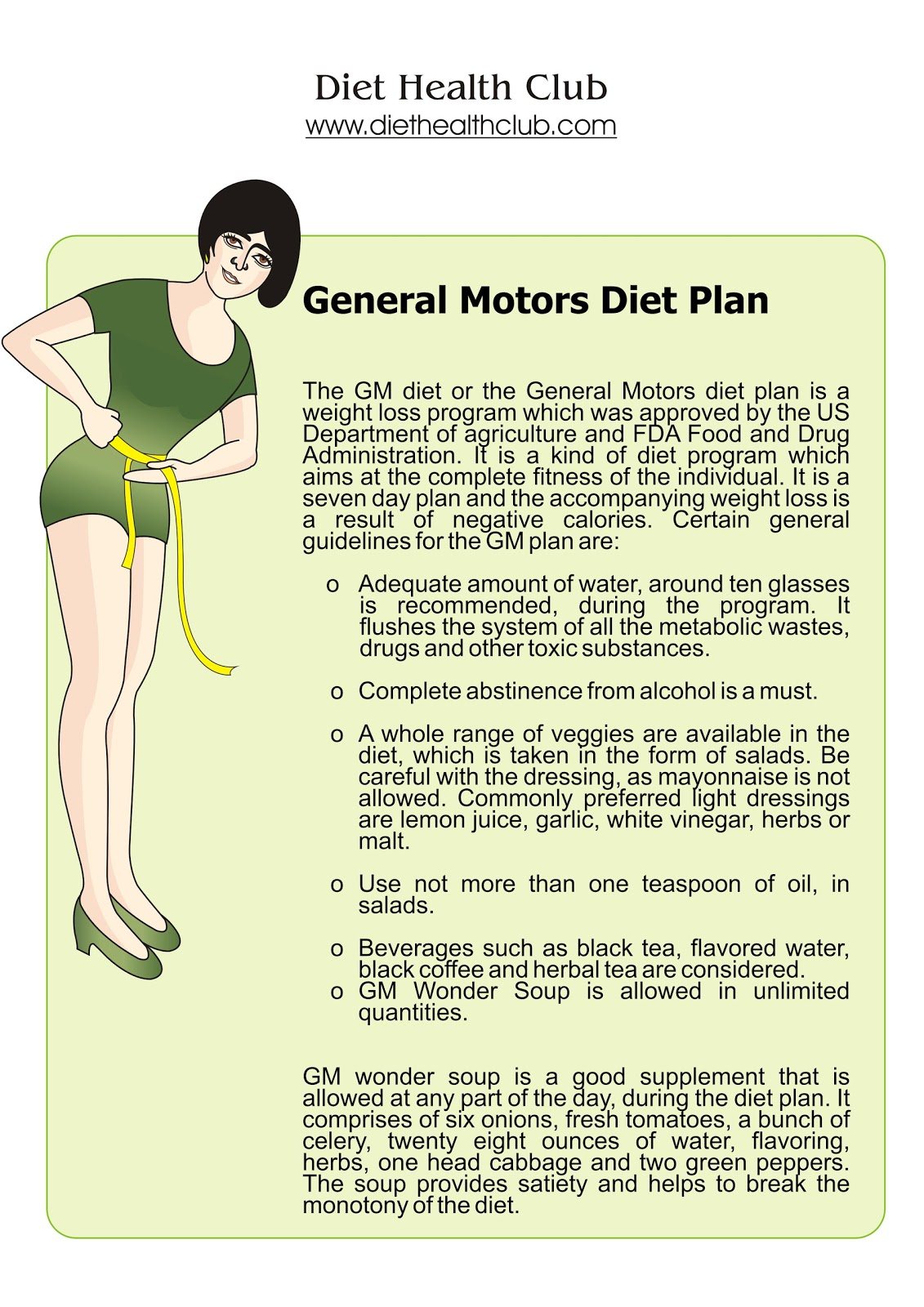 The mediocre menu detox for General motors diet pdf