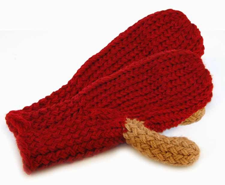 Knifty Knitter Scrap Mittens