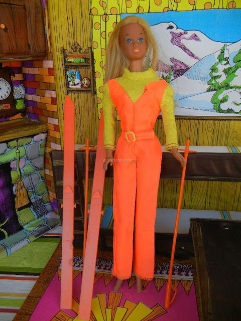 vintage ski lodge barbie