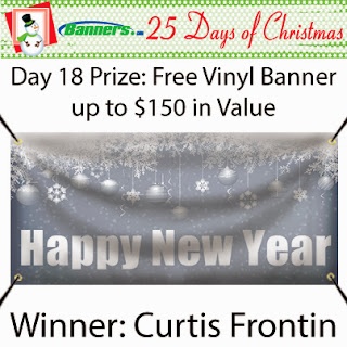 Banners.com 25 Days of Christmas Giveaway - Day 18 Winner