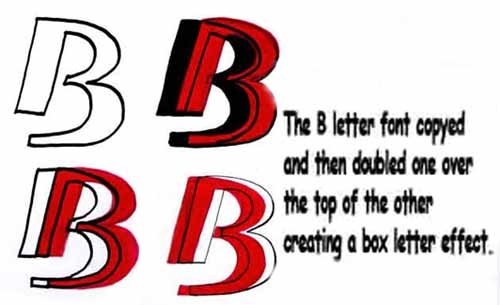 letter b graffiti. 4 Graffiti Letters B for