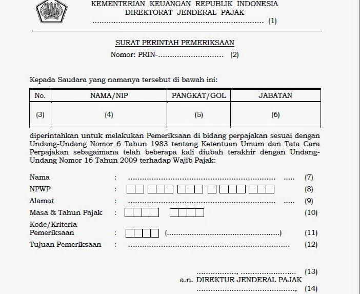 contoh surat perintah pemeriksaan (SP2)