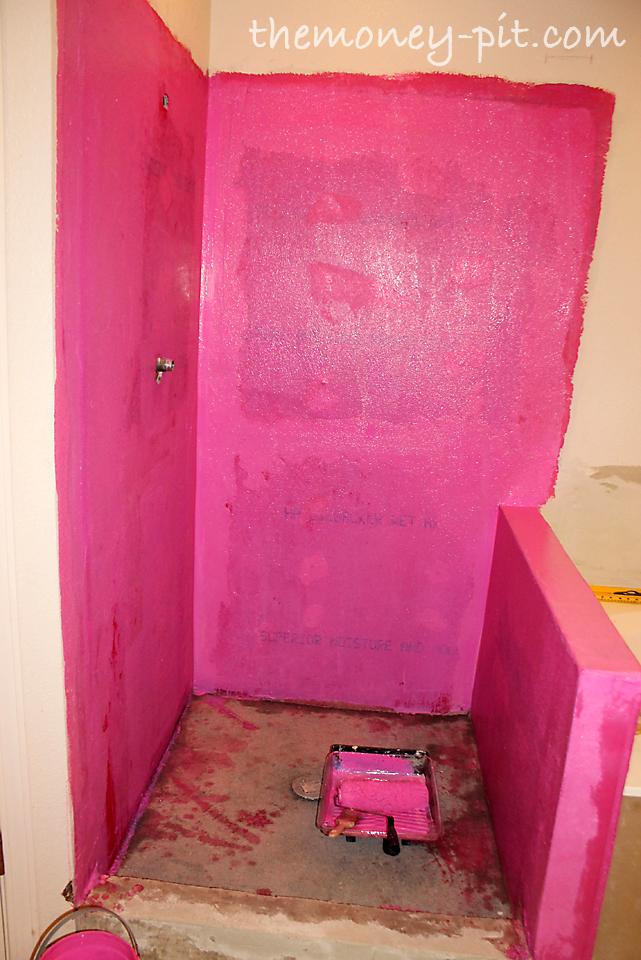 Master Bathroom Days 11 13: Shower Curb, Waterproofing And Floor Repair    The Kim Six Fix