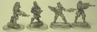 Protolene Mercenary fighters by Critical Mass Games