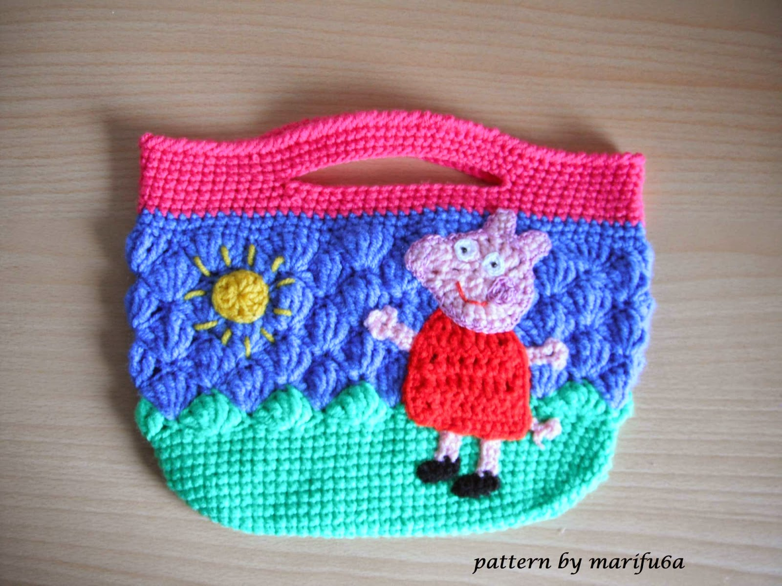 How To Crochet Peppa Pig Purse Bag Free Pattern Tutorial By Marifu6a : Free crochet patterns and video tutorials: how to crochet ...