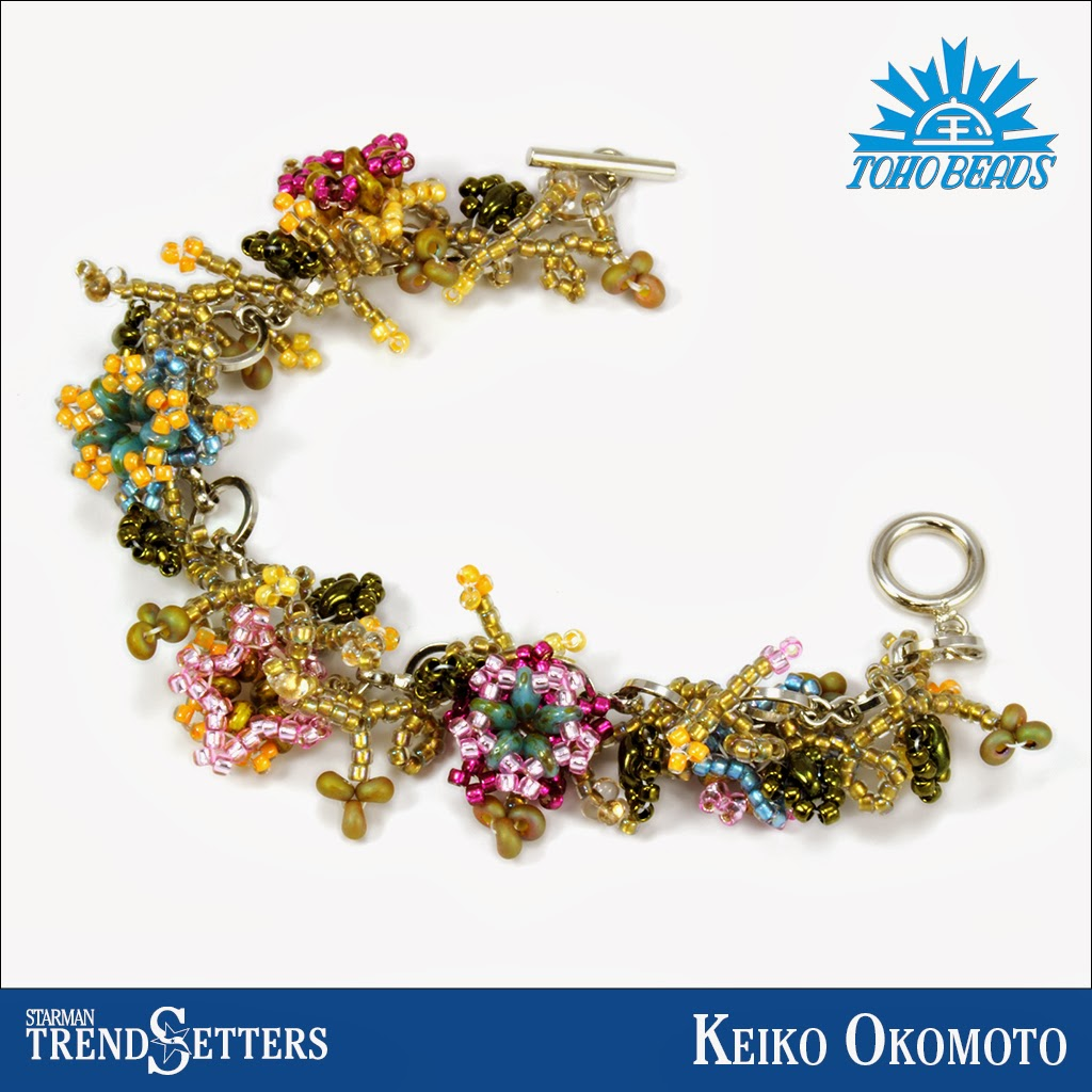 SuperDuo and TOHO beaded bracelet by Starman TrendSetter Keiko Okomoto