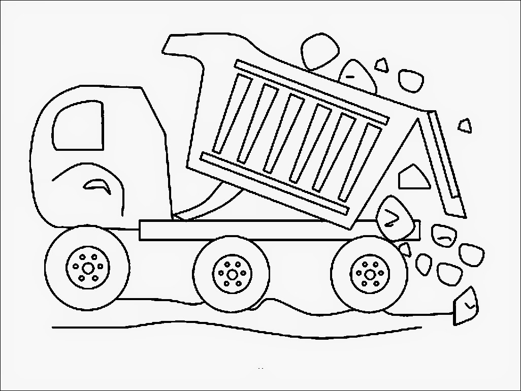 dump truck coloring pages online - photo#36