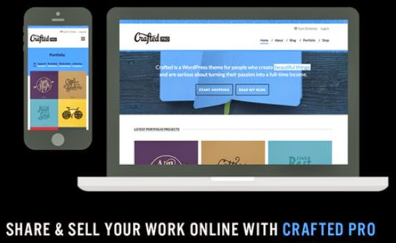 Crafted Pro - Portfolio & eCommerce Template