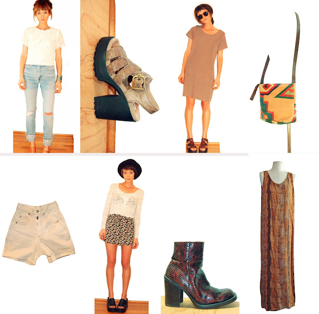 #vintage clothing #lookbook #fashion #90s #grunge #neutrals #1990s #idlized #etsy #vintageshop