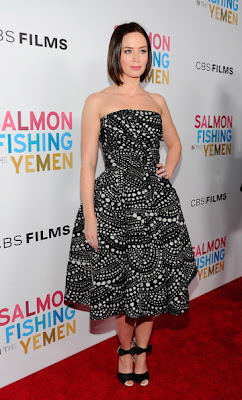 Emily Blunt Print Dress
