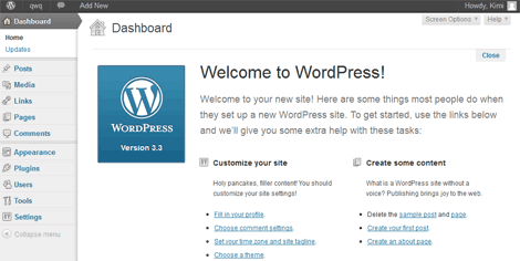 Hủy bỏ Welcome to WordPress trong WordPress