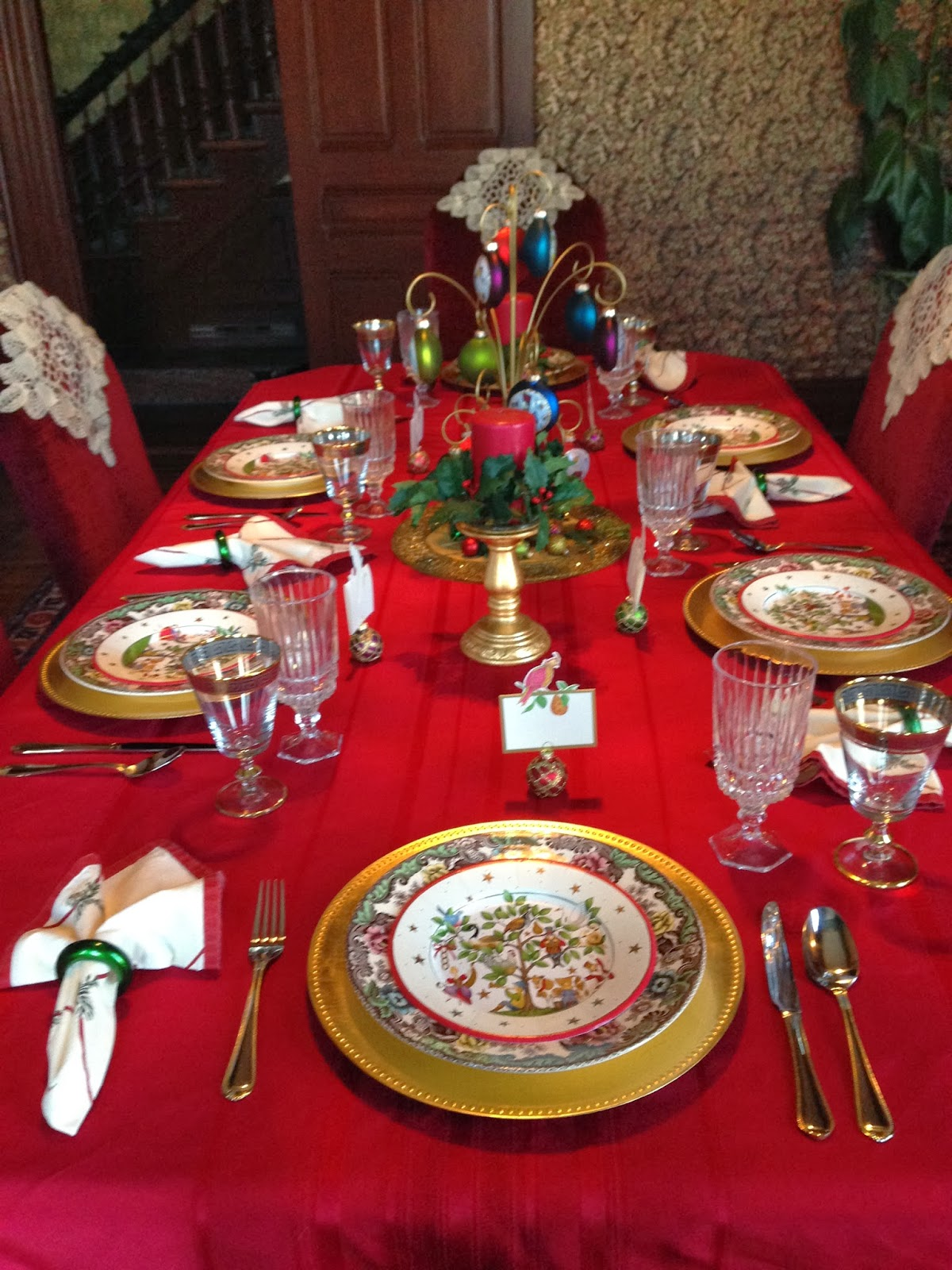 ... Caspari Paper Plates Went With The Rim Colors Of My Spode Christmas  Tree Grove Dinner Plates. I Used A New Set Of Flatware Cambridge Verona  Which Has A ...