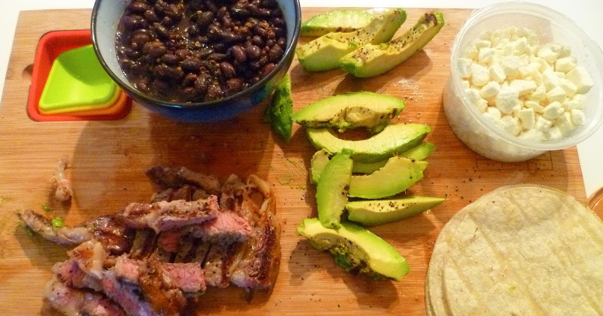 ... Pepper's Kitchen: Spiced Black Bean, Grilled Avocado and Steak Tacos