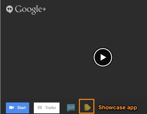 Google+ HOA Showcase App Event Page