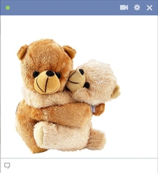 Teddy Bears Hugging Emoticon