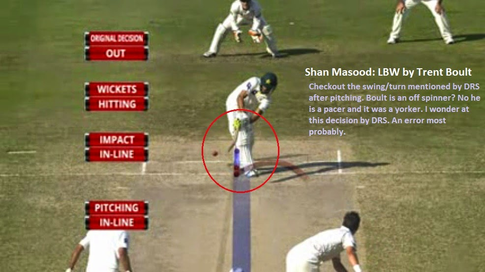 Shan Masood, Trent Boult, LBW, Pakistan, New Zealand, 2nd Test, Dubai, Umpire, Video, DRS, UDRS, Controversial, Decision, Turn, Swing, Yorker