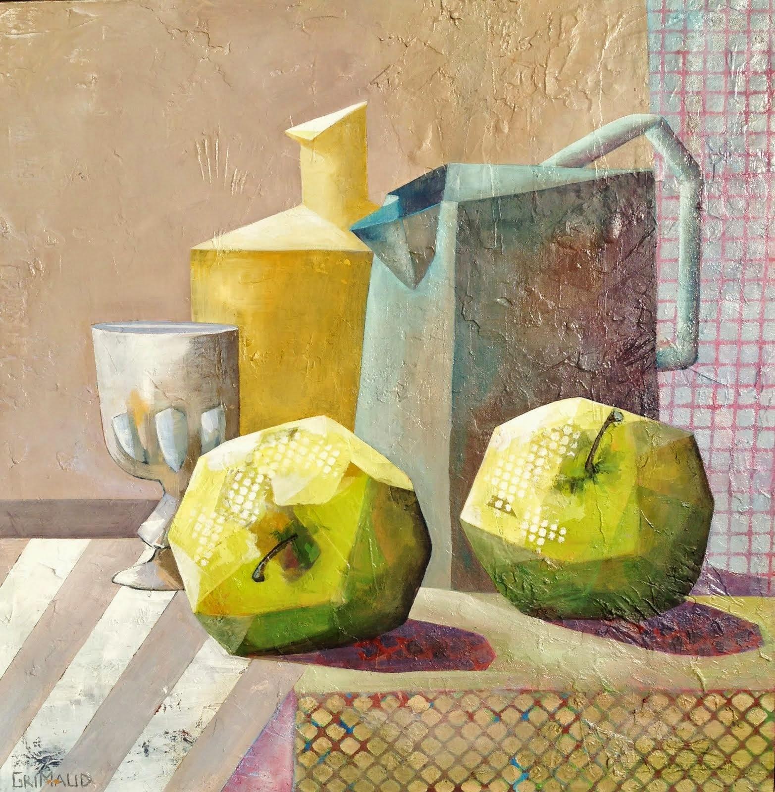 Composition aux pommes (80x80)