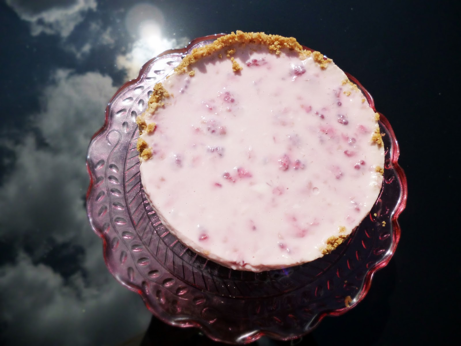 Cake Of The Week: DIY Midori & Raspberry Cheesecake