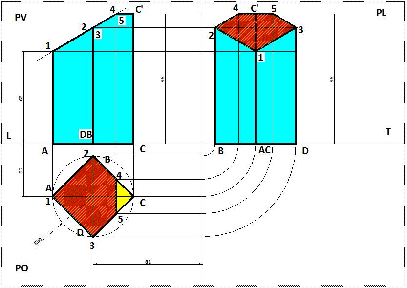Disegno parallelepipedo tagliato con un piano inclinato for Disegno di piano domestico