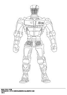 Атом робот раскраски