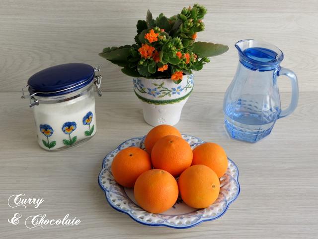 Naranjas confitadas - Ingredientes