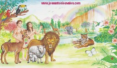 Historias religiosas for Adan y eva en el jardin