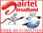 Airtel: Buy FREE WiFi Router On Airtel Broadband Connection (On 4 Mbps Plans)