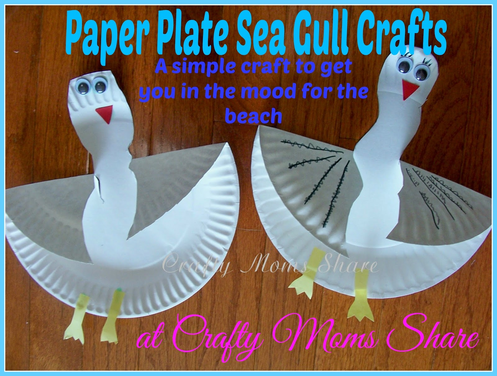 An Easy Paper Plate Sea Gull Craft & Crafty Moms Share: An Easy Paper Plate Sea Gull Craft