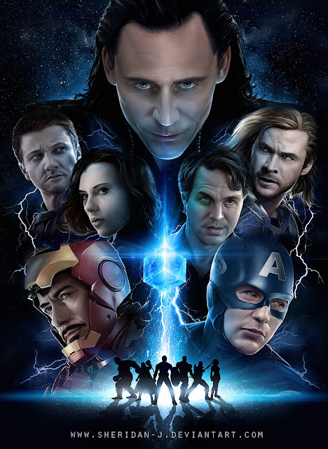 The Avengers Poster Challenge wallpaper Paintings of Sheridan Johns |  Loki |  Thor | Iron Man | Hawkeye | Captain America | The Hulk | Black Widow Natalia Romanova and Fury | Thor (Marvel Comics) | Loki (comics) | Robert Downey, Jr. as Tony Stark Iron Man | Chris Evans as Steve Rogers Captain America | | Mark Ruffalo as Dr. Bruce Banner Hulk | Chris Hemsworth as Thor | Scarlett Johansson as Natasha Romanoff Black Widow | Jeremy Renner as Clint Barton Hawkeye | Tom Hiddleston as Loki | Totally Cool Pix | big picture | totallycoolpix | The Avengers wallpaper | 3d movie painting | painting wallpaper | Sheridan Johns painting | realistic painting | water color painting | water colour painting