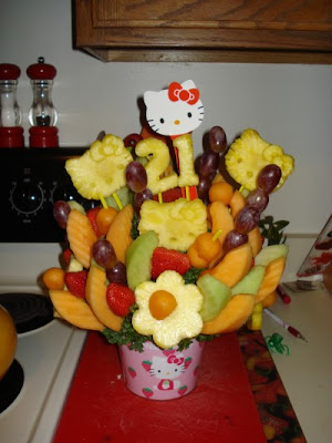 Hình ảnh hoa đẹp làm từ trái cây