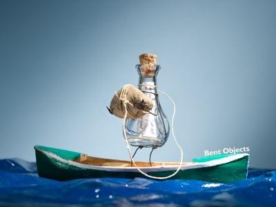 Introvert flaskepost, nødråb -- The Introvert by Terry Border