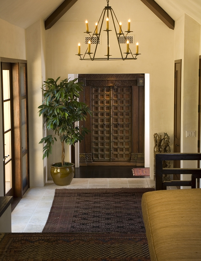 Interior photo of entrance doors and hallway